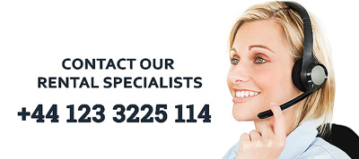 Contact our rental specialist per phone or email