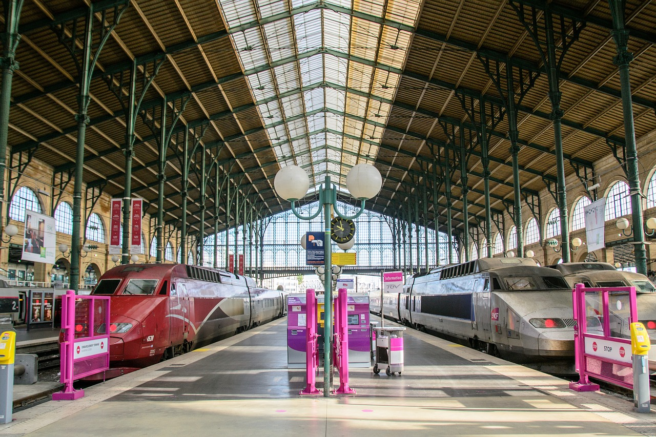 Paris Gare du Nord de Train Station