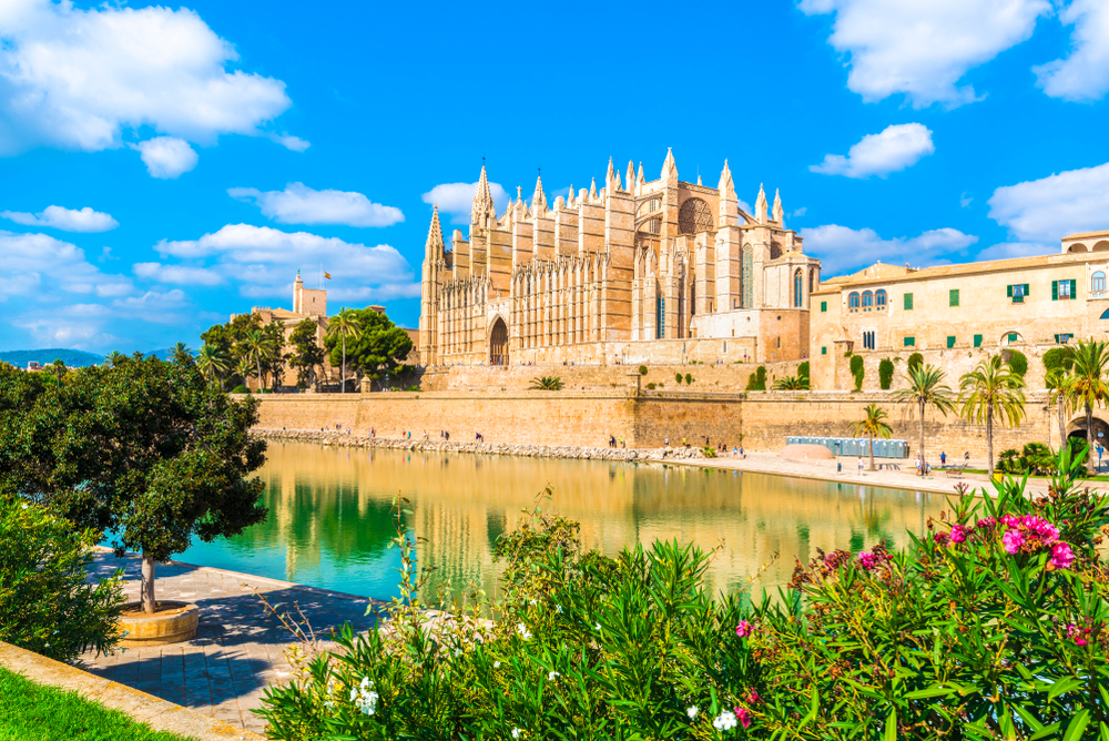 Palma de Mallorca's Gothic cathedral is one of Spain's most striking buildings