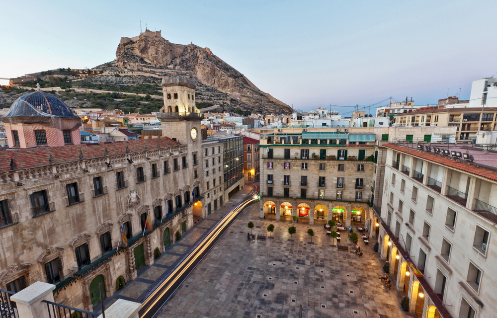 Alicante's historic centre is a major draw for tourists visiting Spain